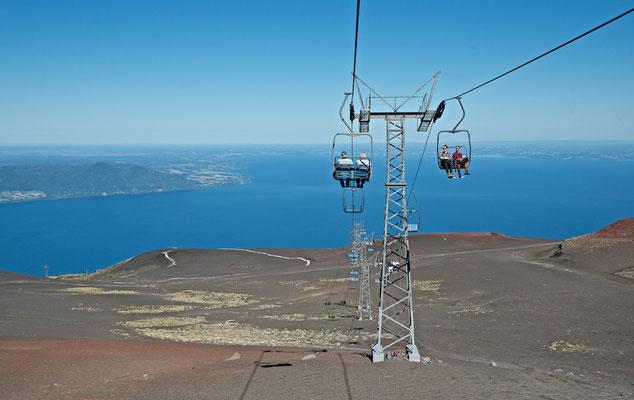 Seilbahn auf dem Vulkan Osorno