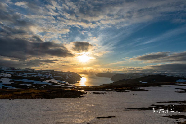 Fotostopp Arora Blick auf dem Weg zum Nordkap