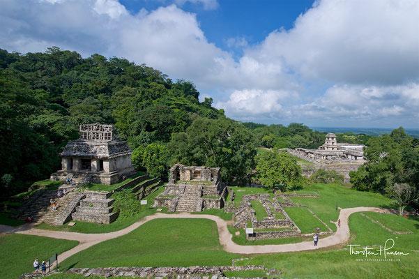 Die im Regenwald von Chiapas eingebetteten Maya-Ruinen von Palenque