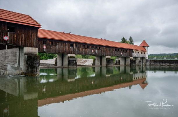 Das 1924 erbaute Ickinger Stauwehr