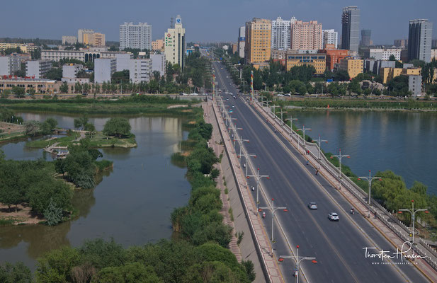 Blick über das neue Kashgar