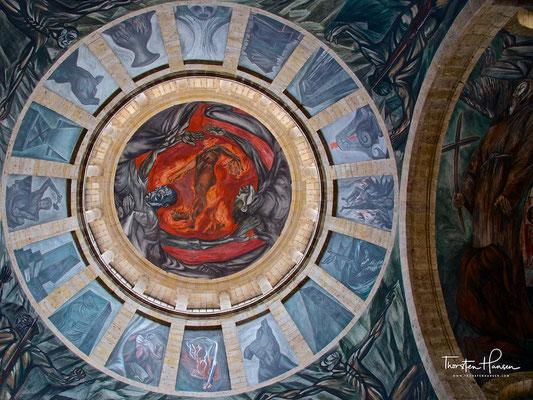 Wandmalerei von Orozco im Hospicio Cabañas