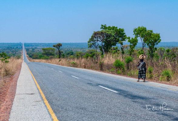 Nördlich der Bangweulu Sümpfe auf dem Weg nach Kasama
