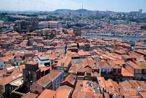 Blick über Porto von der Igreja dos Clérigos