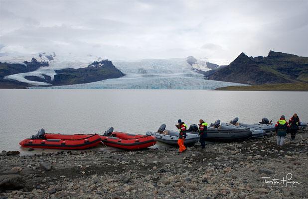 Blick auf den Fjallsárlón mit dem Fjallsjökull