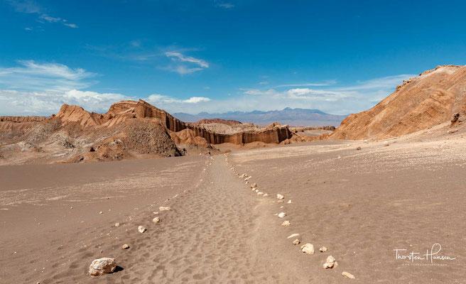 Das vegetationsarme Gebiet erinnert an die Oberfläche des Mondes, daher der Name.