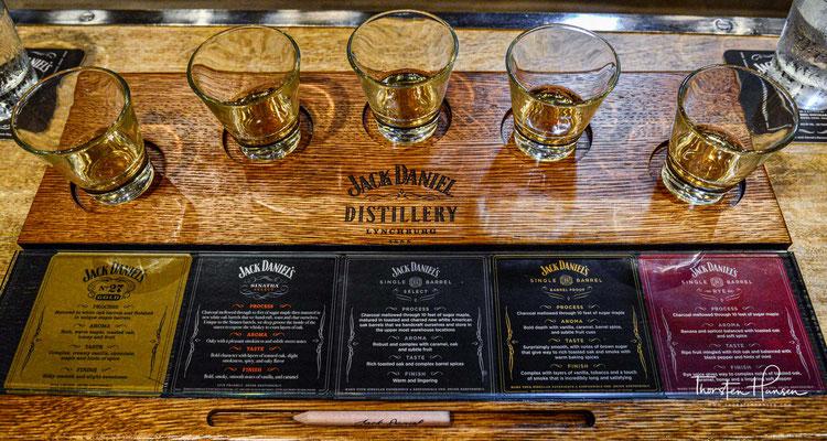 Der größte Teil der 67 Lagerhäuser, in der etwa 190 Millionen Liter Whiskey reifen, liegt abseits der Besucherströme mehrere Kilometer entfernt.