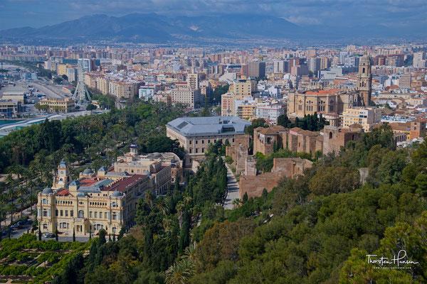 Blick über Malaga von der maurischen Festung aus