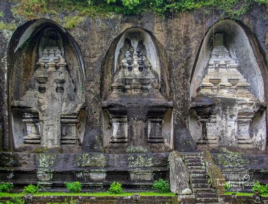 Das Ensemble mit insgesamt zehn Königsgräbern befindet sich nahe der Stadt Ubud
