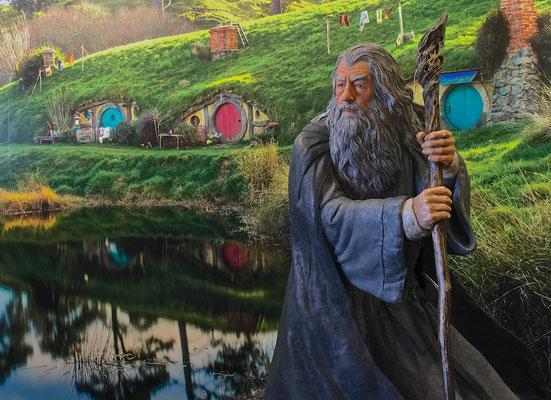 """Als Peter Jackson begann, nach geeigneten Orten für die Filmreihe """"Herr der Ringe"""" zu suchen, sah er die Alexander Farm 1998 zum ersten Mal während einer Flugsuche"""