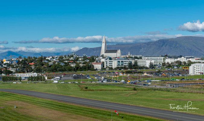 Blick über die isländische Hauptstadt Reykjavik