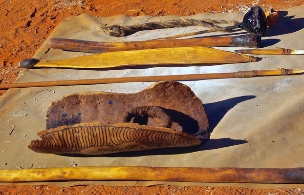 Agangu Rock art am Uluru - Ayers Rock