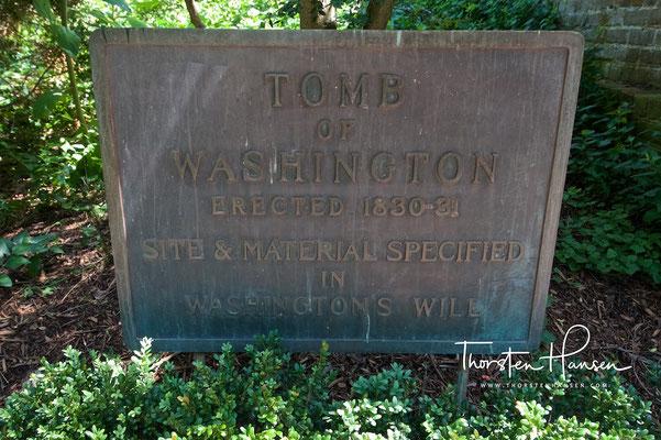 Grab von Georg Washingtons auf Landsitz Mount Vernon