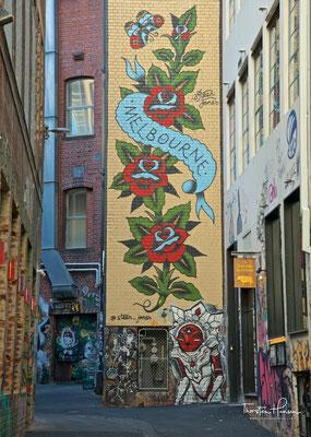 Hosier and Rutledge Lane in Melbourne