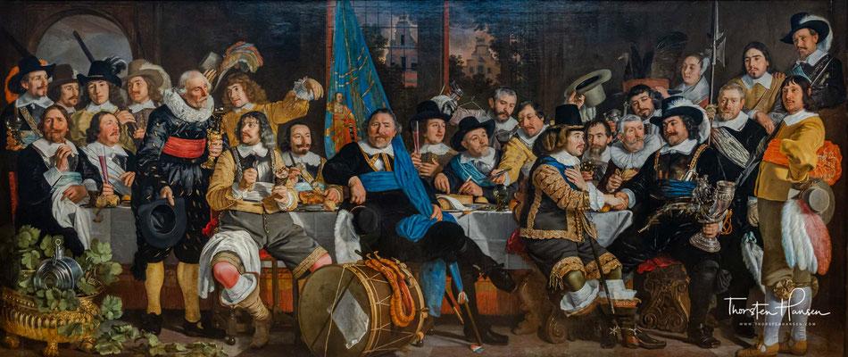 Amsterdam Bürger feiern den Frieden von Münster, 1648 Gemälde von Emanuel de Witte