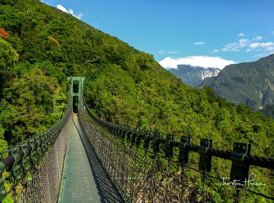 Der Weg führt über lange Hängebrücken in schwindelerregender Höhe...