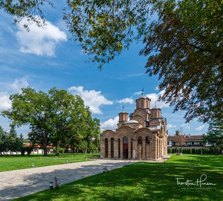 Die Kreuzkuppelkirche mit fünf Kuppeln ist ein herausragendes sakrales Bauwerk der Palaiologischen Renaissance und gleichfalls eines der bekanntesten Bauwerke der byzantinischen Kunst.