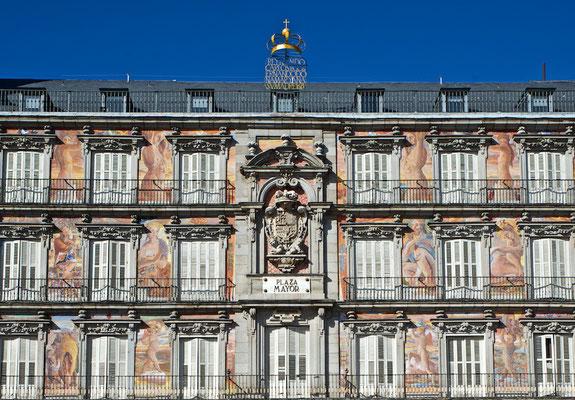 Die Casa de la Panadería an der Plaza Mayor von Madrid