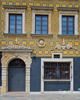 Haus auf der Zakrzewski-Seite des Marktplatzes