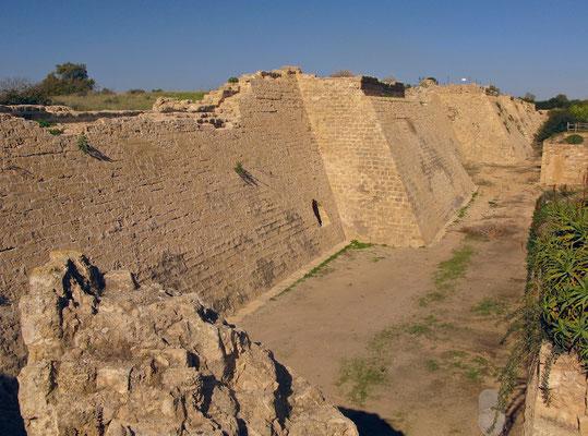 Caesarea Maritima Festungsanlagen aus der Kreuzritterzeit