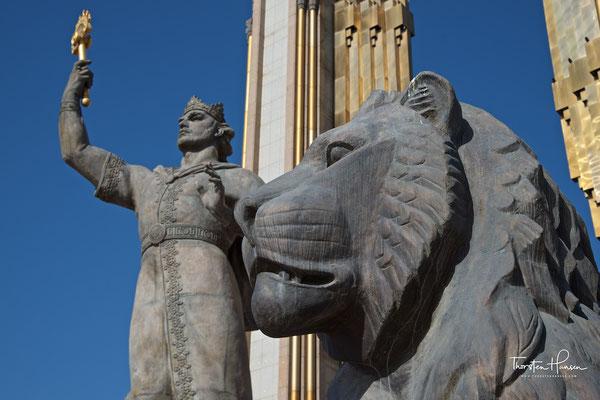 Statue von Ismael Somoni in Duschanbe
