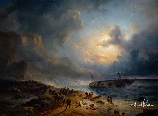 Schiffbruch vor einer felsigen Küste - von Wijnand Nuijen, 1837