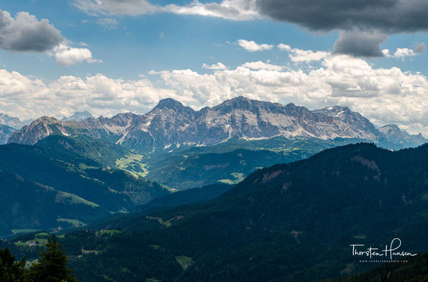Panorama entlang des Weges zur Maurerberghütte