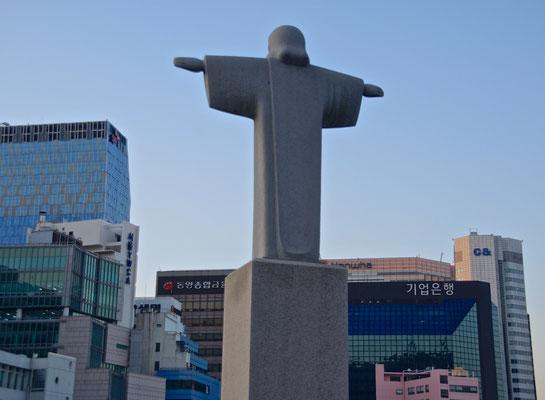 Jesusstatue in Seoul