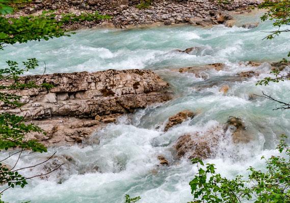 Der Rißbach ist eines der beliebtesten Wildwasser Bayerns für Wildwassersportler.