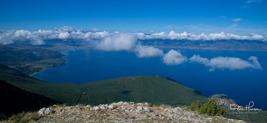 Blick über den Ohridsee