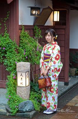 Mädchen im Kimono