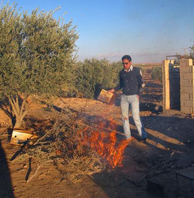 Barbecaueausflug mit der Familie al-Hassans