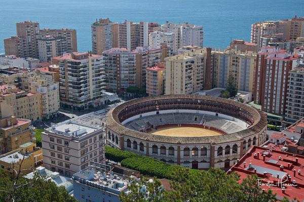 La Malagueta, mit 14.000 Plätzen eine der größten Stierkampfarenen in Spanien.