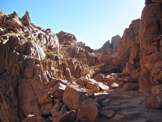 Pilgerweg auf den Berg Sinai