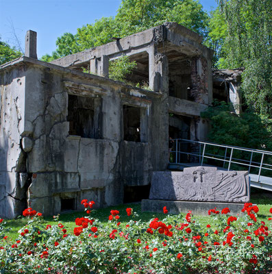 Überreste der Kaserne auf der Westerplatte