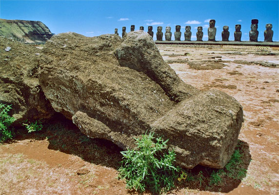 Moai am Ahu Tongariki