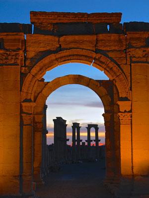 Abendstimmung über Palmyra