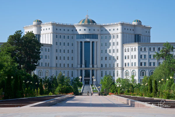 Die grösste Nationalbibliothek Zentralasiens in Duschanbe
