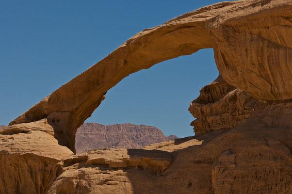 Wüstenlandschaft im Wadi Rum