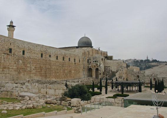 Die al-Aqsa-Moschee - arabisch المسجد الأقصى, auf dem Tempelberg in der Jerusalemer Altstadt