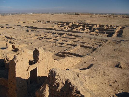 Reste der Zitadelle von Dura Europos