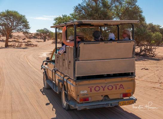 ..., die nur in seltenen guten Regenjahren Wasser führt. Das Gebiet ist Teil des Namib-Naukluft-Nationalparks.