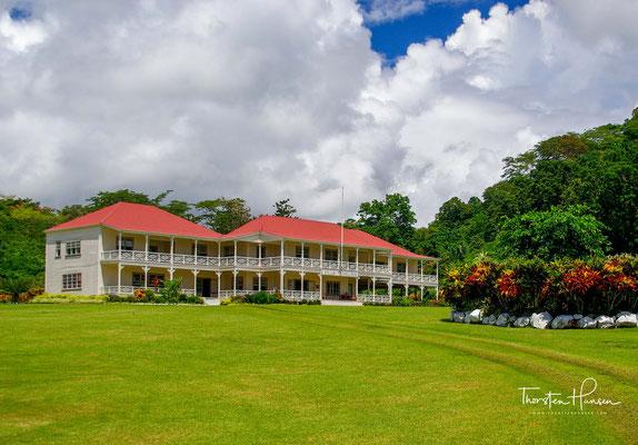 Die Villa Vailima ist ein historisches Bauwerk und Museum in der Nähe von Apia, der Hauptstadt Samoas auf der Insel Upolu.