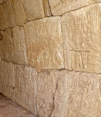 Hieroglyphen in Hattuscha