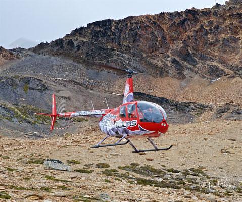 Landung in den Bergen...
