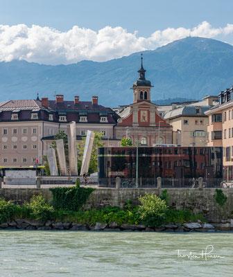 Das Gebiet der Stadt Innsbruck von West nach Ost erstreckt sich über einen großen Teil des Inntals, neben dem bebauten Talboden auch über viel Bergraum