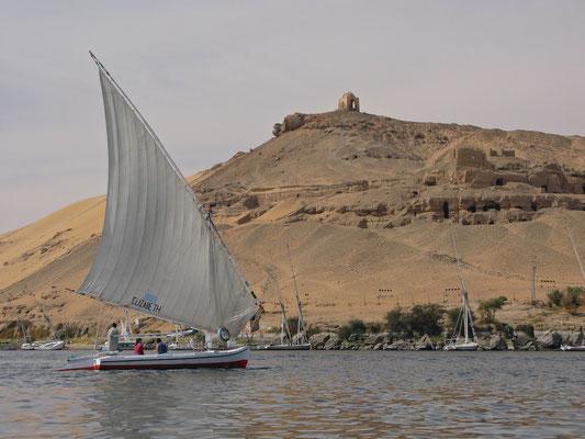 Auf der Fähre auf dem Nil