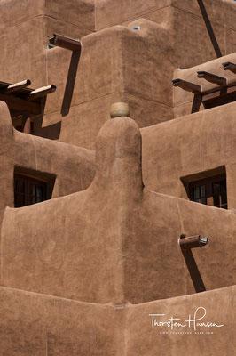 Adobe Lehmbauten in Taos