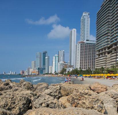 Die moderne Strandpromenade von Cartagena