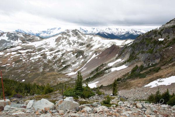 Die am Fuß der Berge liegende Stadt Whistler gehört zu den beliebtesten Wintersportorten.
